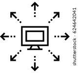 distribution vector icon | Shutterstock .eps vector #624642041