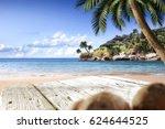 summer desk space  | Shutterstock . vector #624644525