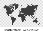 world map | Shutterstock .eps vector #624645869