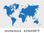 world map | Shutterstock .eps vector #624645875