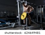 a muscular man with a naked... | Shutterstock . vector #624649481