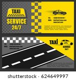 taxi business card. the work of ...   Shutterstock .eps vector #624649997