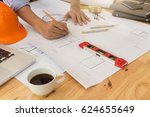 architect concept  architects... | Shutterstock . vector #624655649