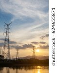 Small photo of Substation in the sunset afterglow background