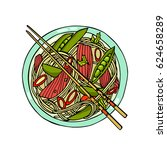 vector illustration of hand... | Shutterstock .eps vector #624658289