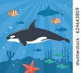 illustration of killer whale...   Shutterstock .eps vector #624663809