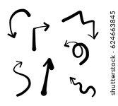 hand drawn arrows set | Shutterstock .eps vector #624663845
