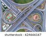 road beautiful aerial view top...   Shutterstock . vector #624666167