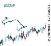 bullish and bearish symbols on...   Shutterstock .eps vector #624668381
