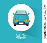 car vehicle transportation... | Shutterstock .eps vector #624668729