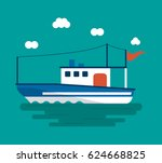 boat ship sea design | Shutterstock .eps vector #624668825
