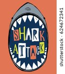 dangerous shark illustration... | Shutterstock .eps vector #624672341