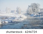 view of frozen trees and river. ... | Shutterstock . vector #6246724