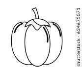 silhouette healthy pepper...   Shutterstock .eps vector #624675071