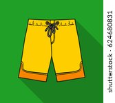 swimming trunks icon in flate... | Shutterstock .eps vector #624680831