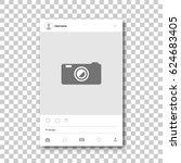 social network photo frame.... | Shutterstock .eps vector #624683405