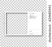 social network photo frame.... | Shutterstock .eps vector #624683441