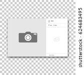 social network photo frame.... | Shutterstock .eps vector #624683495