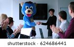 boss dresed as teddy bear... | Shutterstock . vector #624686441
