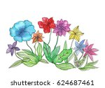 watercolor illustration of... | Shutterstock . vector #624687461