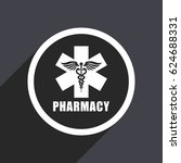 pharmacy flat design vector... | Shutterstock .eps vector #624688331