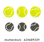 Tennis Balls Set. Black...