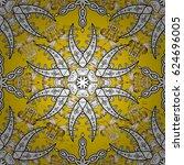 white element on yellow...   Shutterstock .eps vector #624696005