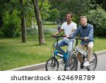active day with friend. two... | Shutterstock . vector #624698789