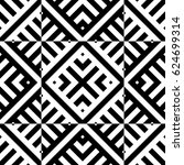 seamless pattern with black... | Shutterstock .eps vector #624699314