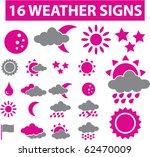 16 weather signs. vector | Shutterstock .eps vector #62470009