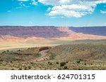 scenic empty roadway in grand... | Shutterstock . vector #624701315