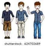beautiful happy young teenager... | Shutterstock . vector #624702689