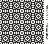 vector seamless black and white ... | Shutterstock .eps vector #624704507