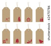 collection of brown paper tags... | Shutterstock .eps vector #62470786