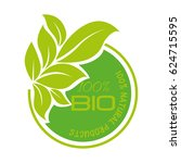 organic product guaranteed seal   Shutterstock .eps vector #624715595