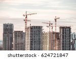 Building Crane And Buildings...