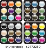 glossy icon button sets in four ... | Shutterstock .eps vector #62472250