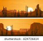 set of horizontal wide banners... | Shutterstock .eps vector #624726614