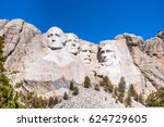 mount rushmore national... | Shutterstock . vector #624729605