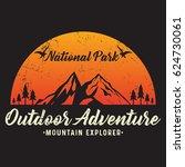 outdoor adventure  mountain... | Shutterstock .eps vector #624730061