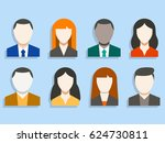 avatar profile icon set... | Shutterstock .eps vector #624730811