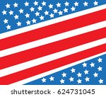 independence day america vector  | Shutterstock .eps vector #624731045