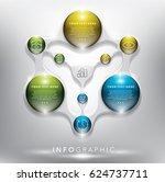 infographic design template for ...   Shutterstock .eps vector #624737711