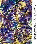 tropical palms | Shutterstock . vector #624738917
