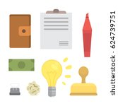 business and office icon... | Shutterstock .eps vector #624739751