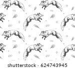 seamless pattern with hand... | Shutterstock .eps vector #624743945