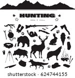 Hand Drawn Hunting Isolated...