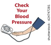 controlling blood pressure ... | Shutterstock .eps vector #624747281