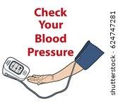 controlling blood pressure ... | Shutterstock .eps vector #624747281