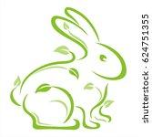 rabbit plants   Shutterstock .eps vector #624751355